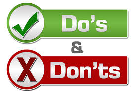 The dos and don'ts that must be followed at your workplace