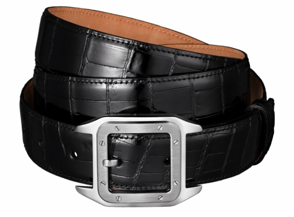 Carter crocodile leather and palladium belt