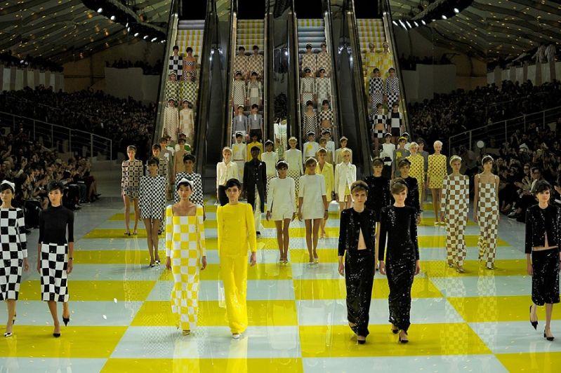 Louis Vuitton's Escalator Runway