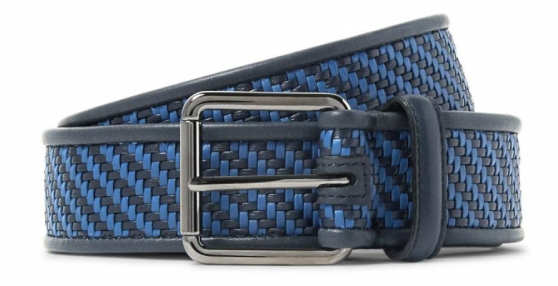 The Ermenegildo Zegna Tessuta leather belt