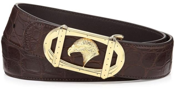 The Stefano Ricci crocodile and palladium belt