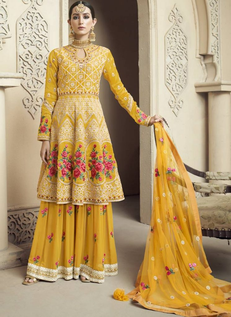 Yellow Shade Sharara
