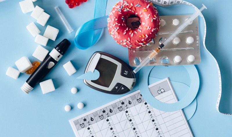 used diabetic test strips